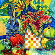 Fruit And Coleus Poster by Ann  Nicholson