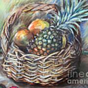 Fruit Basket Poster by Melanie Alcantara Correia