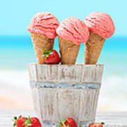 Fruit Ice Cream Poster
