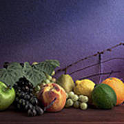 Fruit In Still Life Poster by Tom Mc Nemar