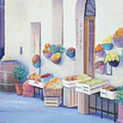 Fruit Market In Tuscany Poster