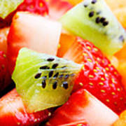 Fruit Salad Macro Poster