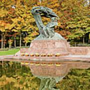 Fryderyk Chopin Statue In Warsaw Poster