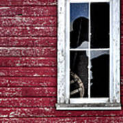 Ft Collins Barn Window 13568 Poster by Jerry Sodorff