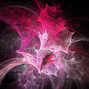 Fuchsia Fountain Abstract Poster by Andee Design