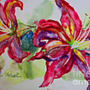 Fuchsia Lilies Poster by Terri Maddin-Miller