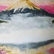 Fuji Mountain In The Fog Poster