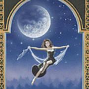 Full Moon Swing Poster by Nickie Bradley