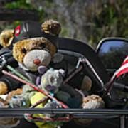 Full Throttle Teddy Bear Poster by Christine Till