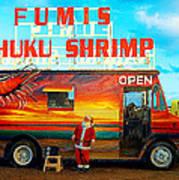 Fumis Kahuku Shrimp Poster by Ron Regalado