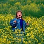 Fun Picking Flowers Poster