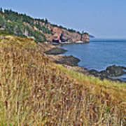 Fundy Bay Coastline Near Cliffs Of Cape D'or-ns Poster