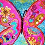 Funky Butterfly Poster