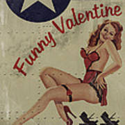 Funny Valentine Noseart Poster