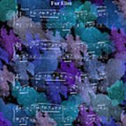 Fur Elise Music Digital Painting Poster
