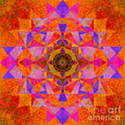 Fushia Yantra Diamond Mandala Poster