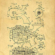 Futuristic Toy Gun Weapon Patent Poster