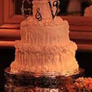 G And V Wedding Cake Poster