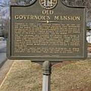 Ga-005-1b Old Governors Mansion Poster