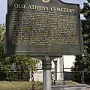 Ga-029-101 Old Athens Cemetery Poster
