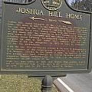 Ga-104-1 Joshua Hill Home Poster
