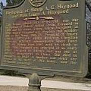 Ga-108-2 Birthplace Of Bishop A. G. Haygood And Miss Laura A. Haygood Poster