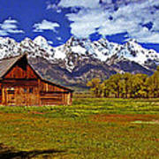 Gable Roof Barn Panorama Poster