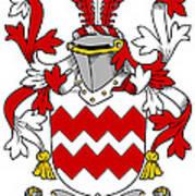 Gaine Coat Of Arms Irish Poster