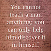 Galileo Quote Science Astronomy Math Physics Inspirational Words On Canvas Poster
