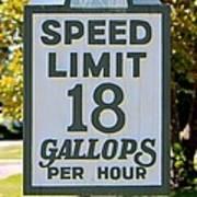 Gallops Per Hour Poster