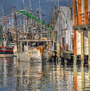 Galveston Shrimp Boats Poster