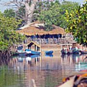 Gambian Fishing Village Poster