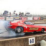 Gambler Burns The Track Poster