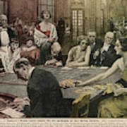 Gamblers At The Tables -  A Winner Poster