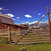 Gambrel Barn And Tetons Poster
