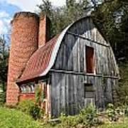 Gambrel-roofed Barn Poster