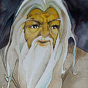 Gandalf The White Poster by Patricia Howitt