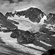 509427-bw-gannett Peak And Gooseneck Glacier, Wind Rivers Poster