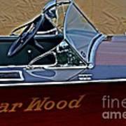 Gar Wood Boat Poster