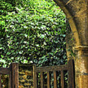 Garden Gate In Sarlat Poster