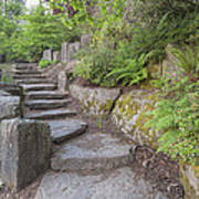 Garden Stair Steps With Natural Rocks Poster