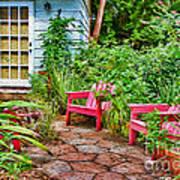 Garden Treasures At Aunt Eden's By Diana Sainz Poster