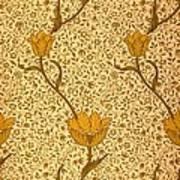 Garden Tulip Wallpaper Design Poster by William Morris
