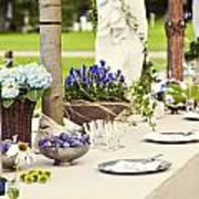 Garden Wedding Table Setting Poster