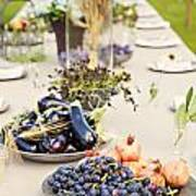Garden Wedding Table Poster