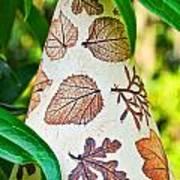 Garden Leaf Pattern Windchime Poster