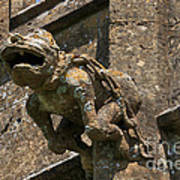 Gargoyle On The Church Of St Mary At Sudeley Castle Poster