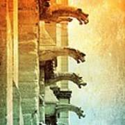 Gargoyles With Textures And Color Poster