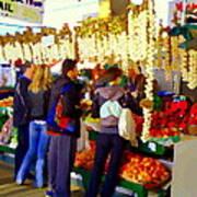 Garlic Festival Farmers Market Food Vendors Onions Garlic Farm Fresh Chef Art Carole Spandau Poster