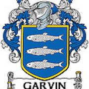 Garvin Coat Of Arms Irish Poster